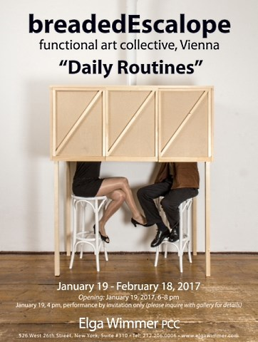 Daily Routines - breadedEscalope (functional art collective, Vienna)